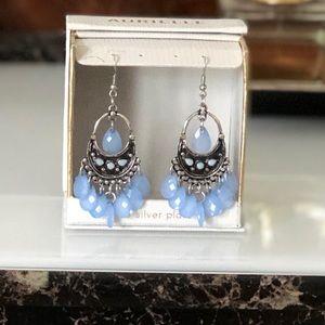 Beautiful blue/ silver earrings